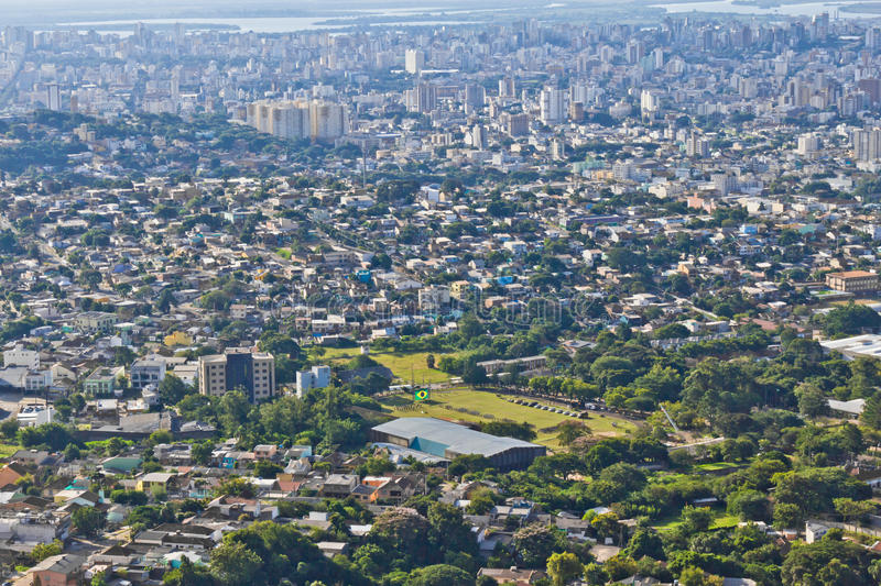 Cityview de Porto Alegre photographie stock