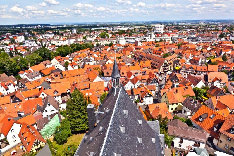 Cityview der alten historischen Stadt von Oberursel lizenzfreie stockfotografie