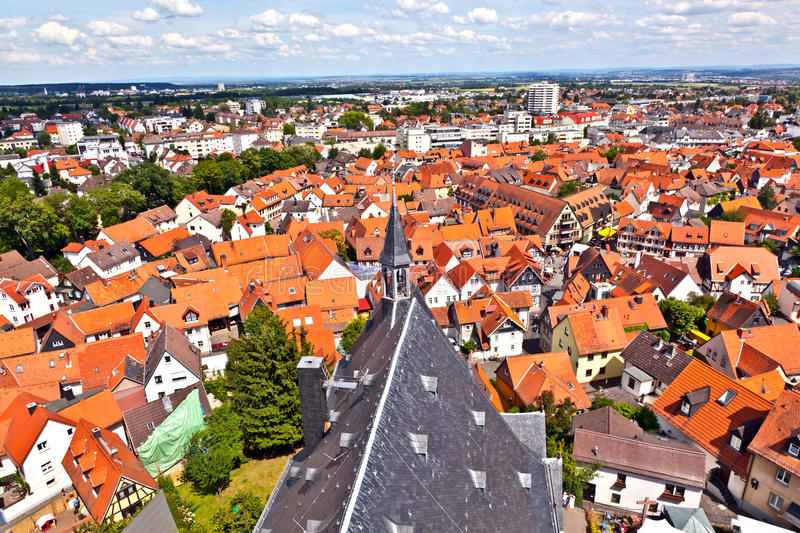 Cityview of old historic town of Oberursel royalty free stock photography