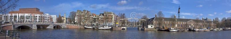Cityview panorámico Amsterdam fotos de archivo
