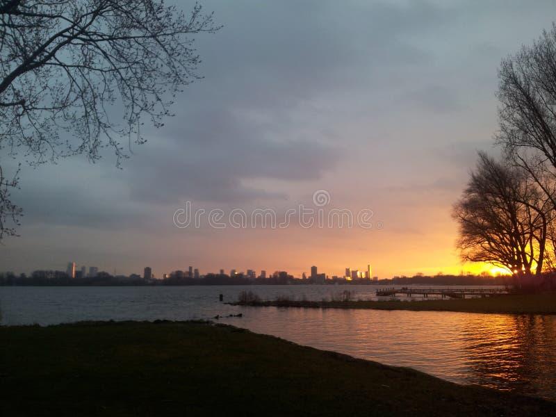Cityview Rotterdam stockfoto