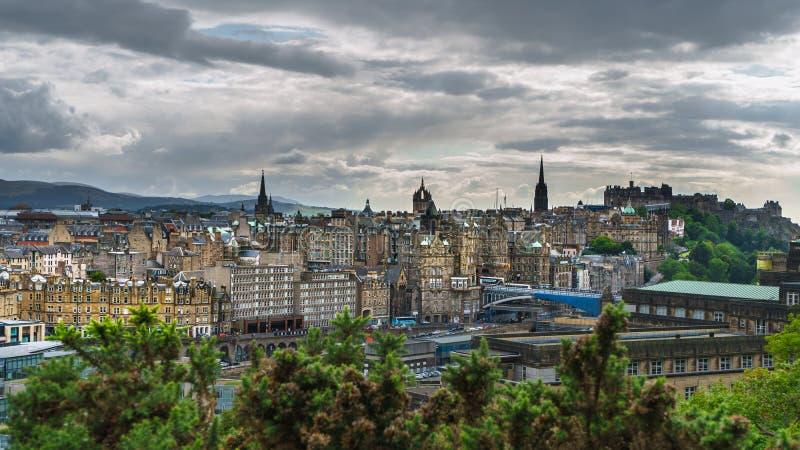 Cityview van Edinburgh royalty-vrije stock afbeelding