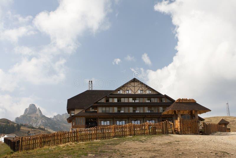Ciucas cabin, Romania stock photography
