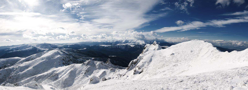 Ciucas mountains stock photo