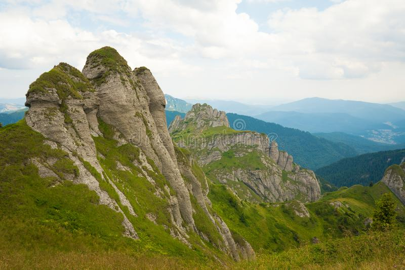 Ciucas Mountains, Romania, a sunny summer day, special geomorphology stock images