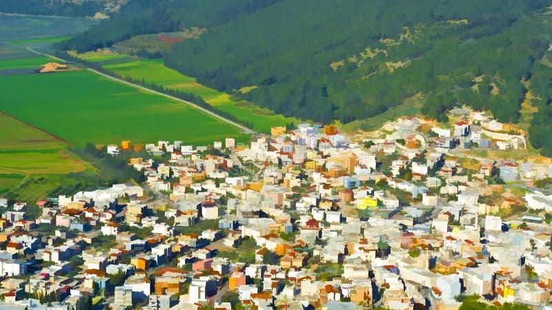 Ciudad árabe en el valle de Jezreel libre illustration