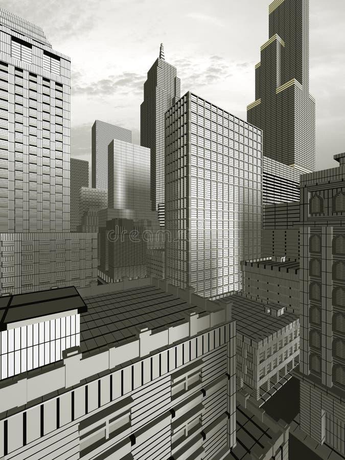 ciudad 3D ilustración del vector