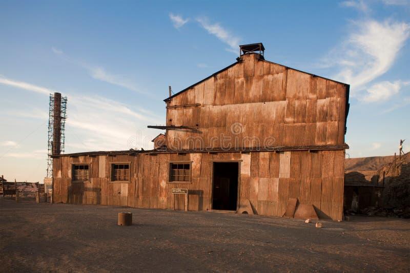 Ciudad abandonada - Santa Laura y Humberstone fotos de archivo