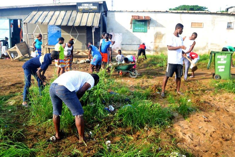 Ciudad Abiyán limpio de la operación imagenes de archivo