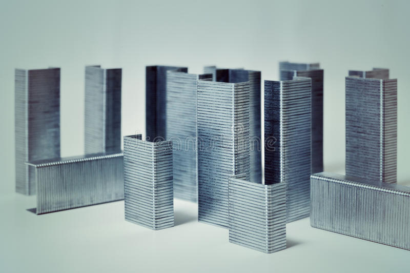 Ciudad abstracta macra de grapas imágenes de archivo libres de regalías
