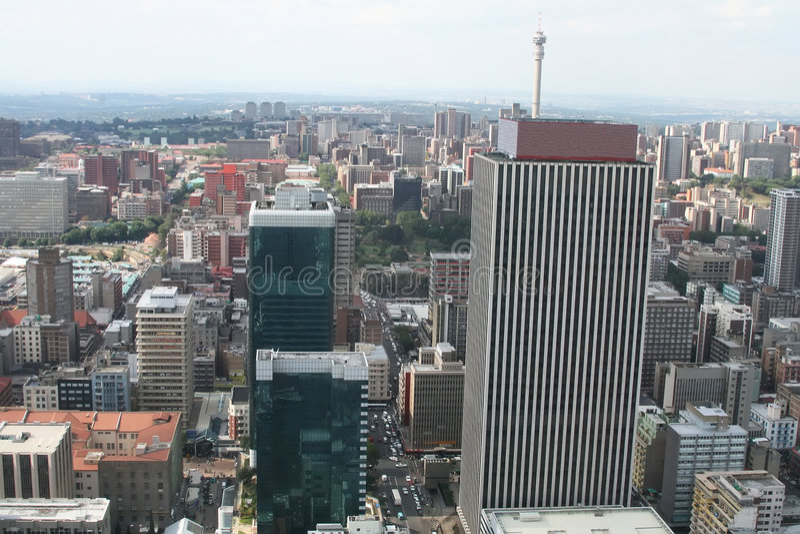 Ciudad africana foto de archivo libre de regalías
