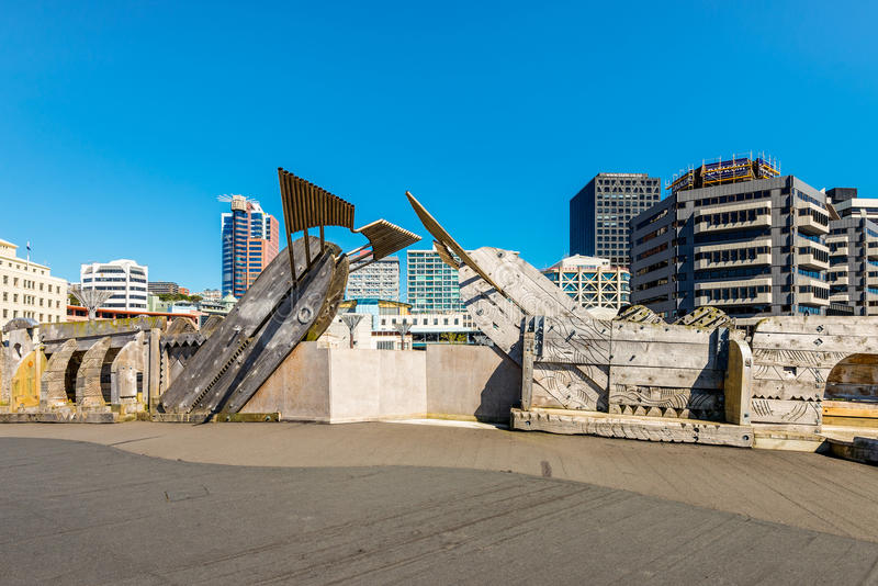 Ciudad al puente del mar, Wellington, Nueva Zelanda imágenes de archivo libres de regalías