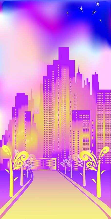 Ciudad alegre ilustración del vector