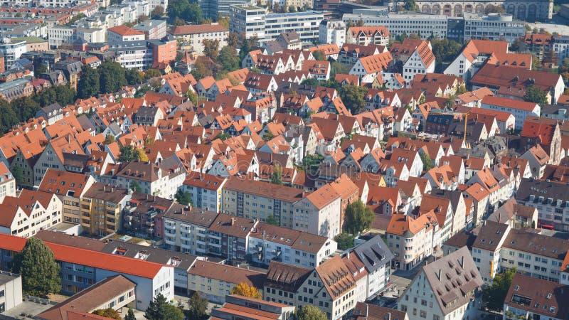Ciudad alemana típica fotos de archivo