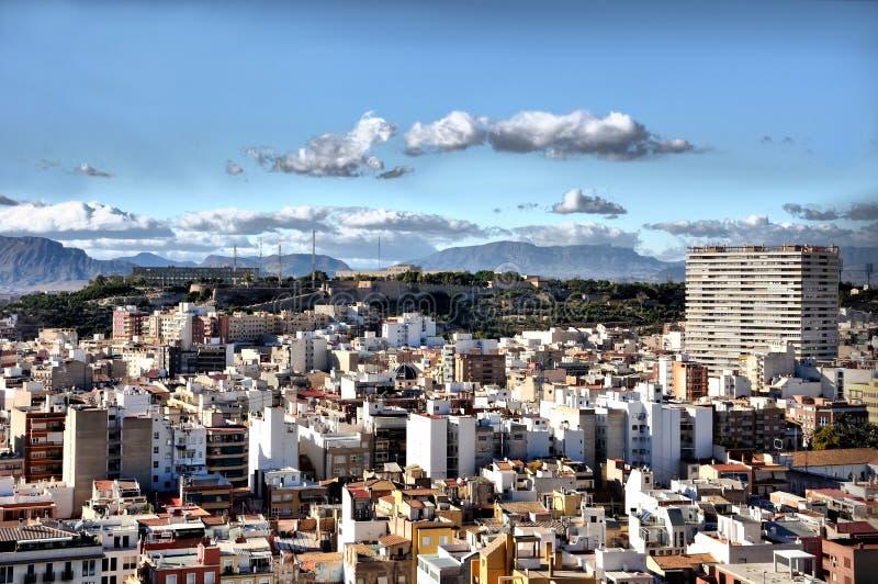 Ciudad Alicante, España fotos de archivo libres de regalías
