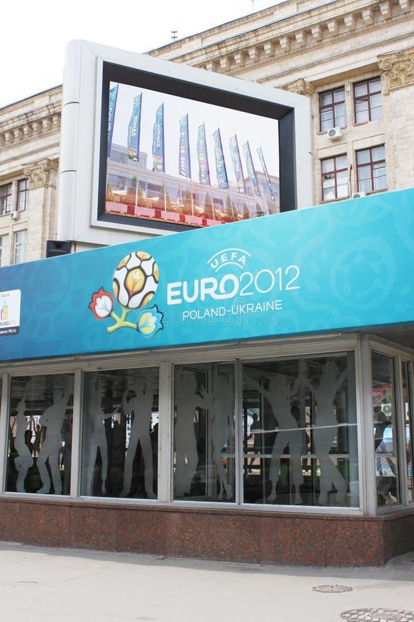 Ciudad anfitriona 2012 del euro Kharkiv imágenes de archivo libres de regalías