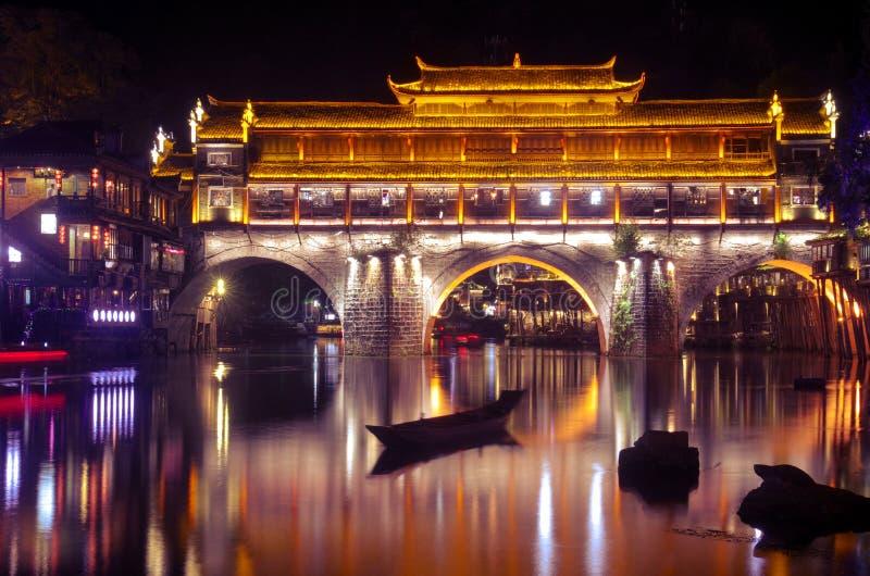 Ciudad antigua China de Fenghuang imagenes de archivo