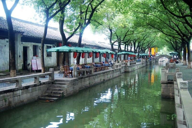 Ciudad antigua china en Tongli fotografía de archivo libre de regalías