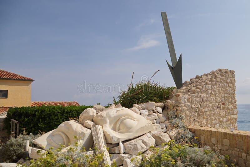 Ciudad antigua de Antibes, Francia imagenes de archivo