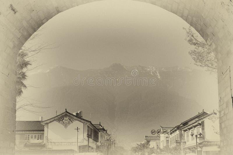 Ciudad antigua de Dali ilustración del vector