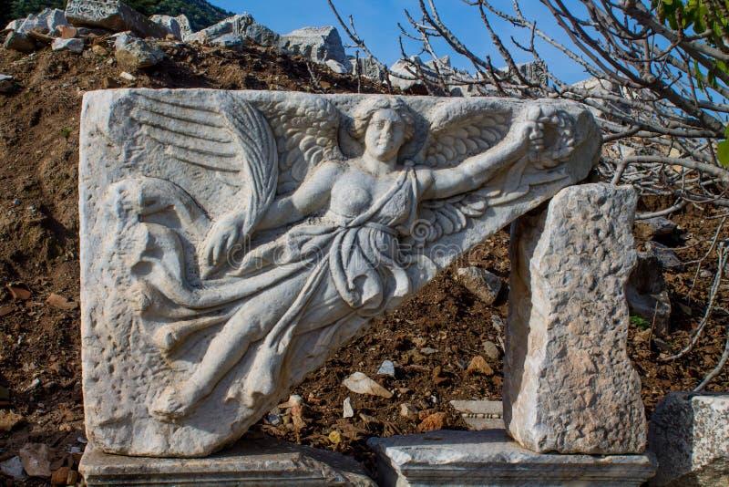 Ciudad antigua antigua de Efes, ruinas de Ephesus imagenes de archivo