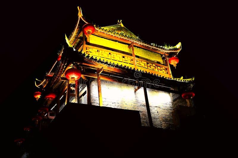Ciudad antigua de Fenghuang, como ciudad histórica y cultural nacional, el primer lote de condados turísticos fuertes en China imagen de archivo libre de regalías