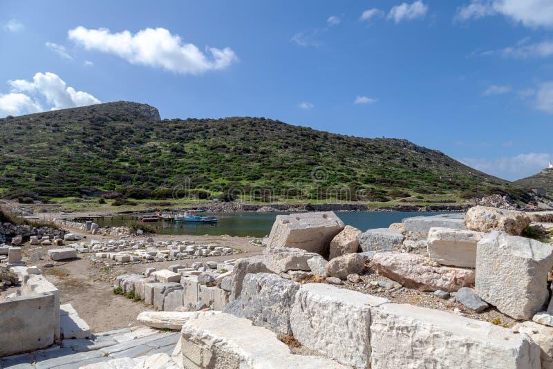 Ciudad antigua de Knidos Cnidus en la península de Datca, Mugla, TURQUÍA fotografía de archivo libre de regalías