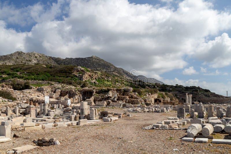 Ciudad antigua de Knidos Cnidus en la península de Datca, Mugla, TURQUÍA imagenes de archivo
