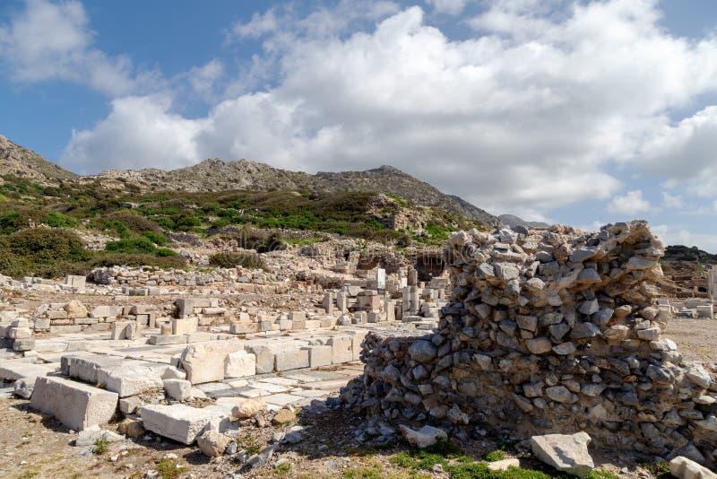 Ciudad antigua de Knidos Cnidus en la península de Datca, Mugla, TURQUÍA foto de archivo