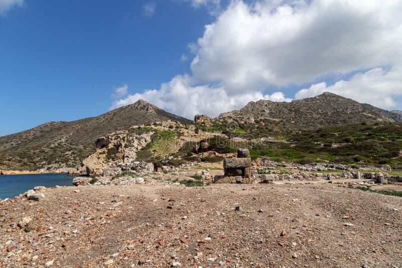 Ciudad antigua de Knidos Cnidus en la península de Datca, Mugla, TURQUÍA foto de archivo libre de regalías