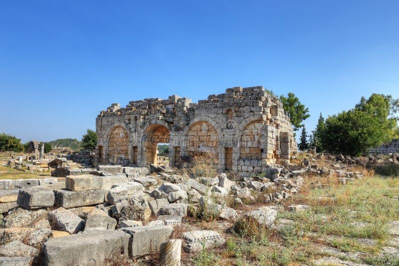 Ciudad antigua de Perge en Antalya foto de archivo libre de regalías