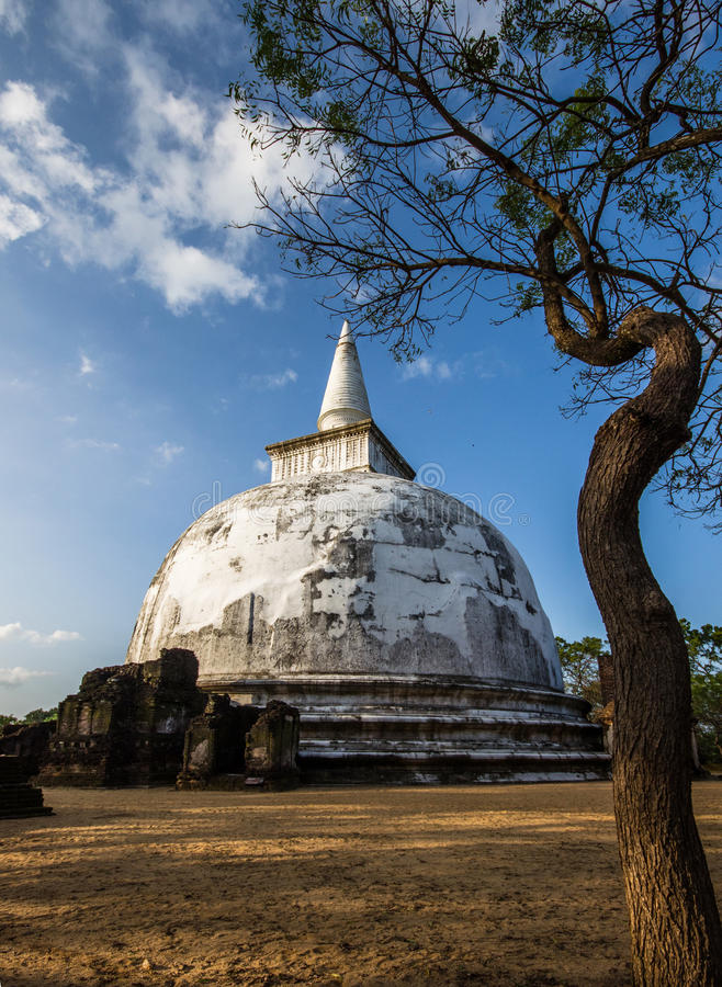 Ciudad antigua de Polonnaruwa fotos de archivo