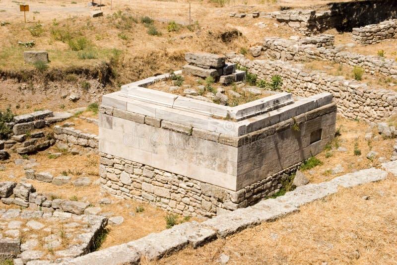 Ciudad antigua de Troy fotografía de archivo libre de regalías
