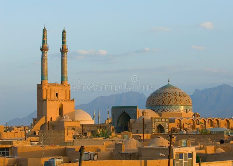 Ciudad antigua de Yazd foto de archivo libre de regalías