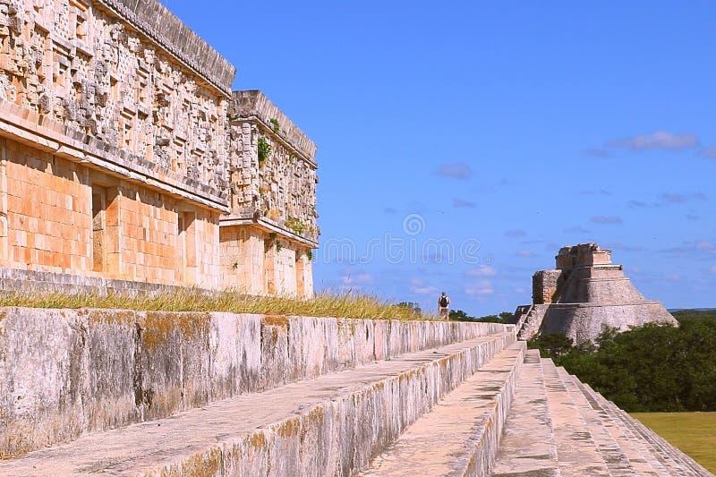 Ciudad antigua del maya de Uxmal X imagen de archivo libre de regalías