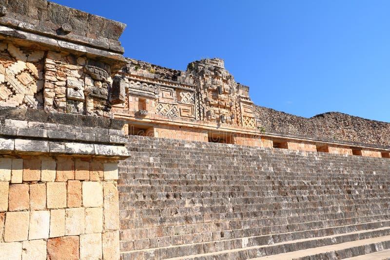 Ciudad antigua del maya de Uxmal XII imagen de archivo libre de regalías