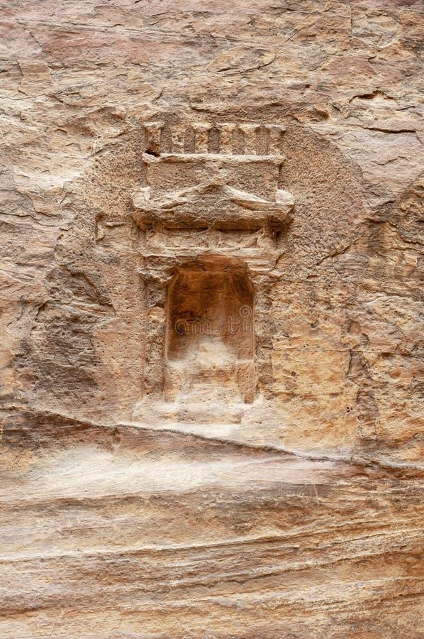 Ciudad antigua del Petra, Jordania imágenes de archivo libres de regalías