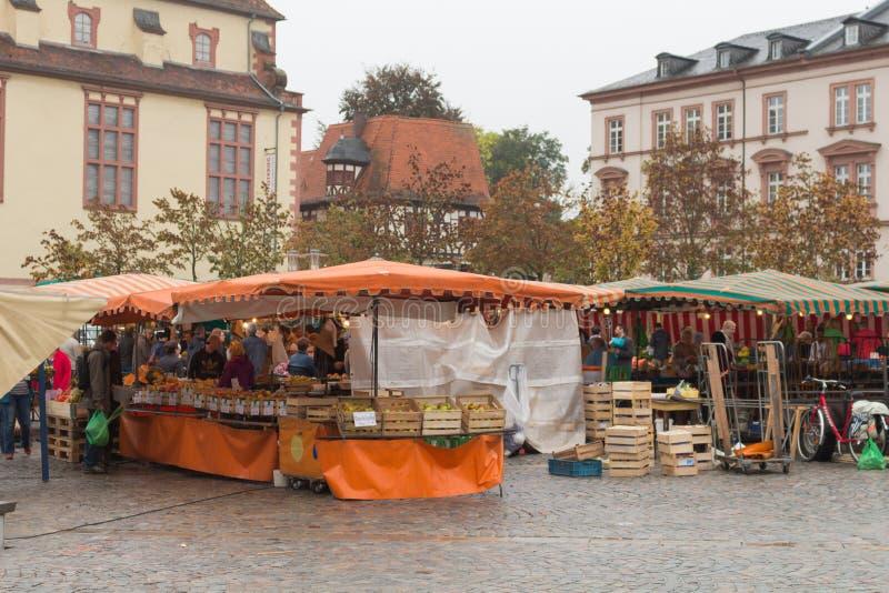 Ciudad Aschaffenburg de Marktplatz imagen de archivo