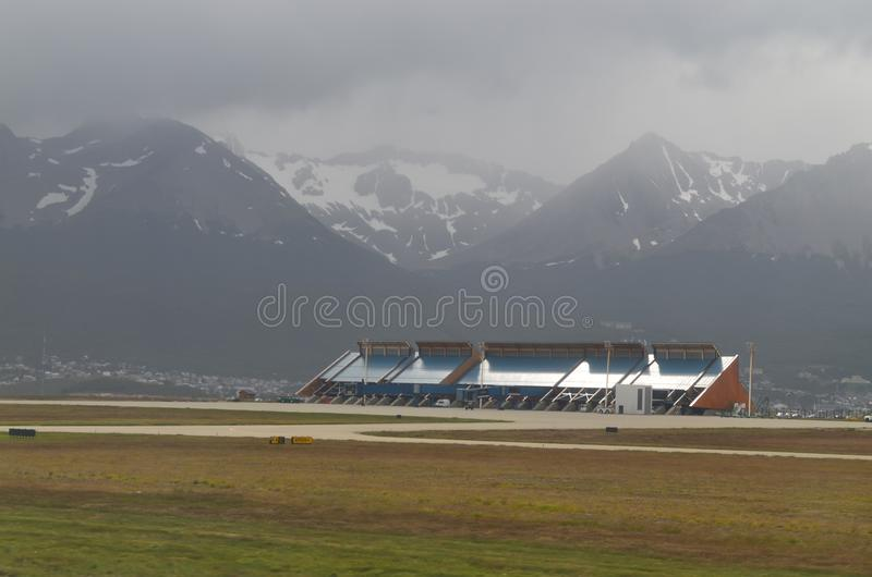 Ciudad asombrosa Ushuaia en la Argentina fotos de archivo libres de regalías