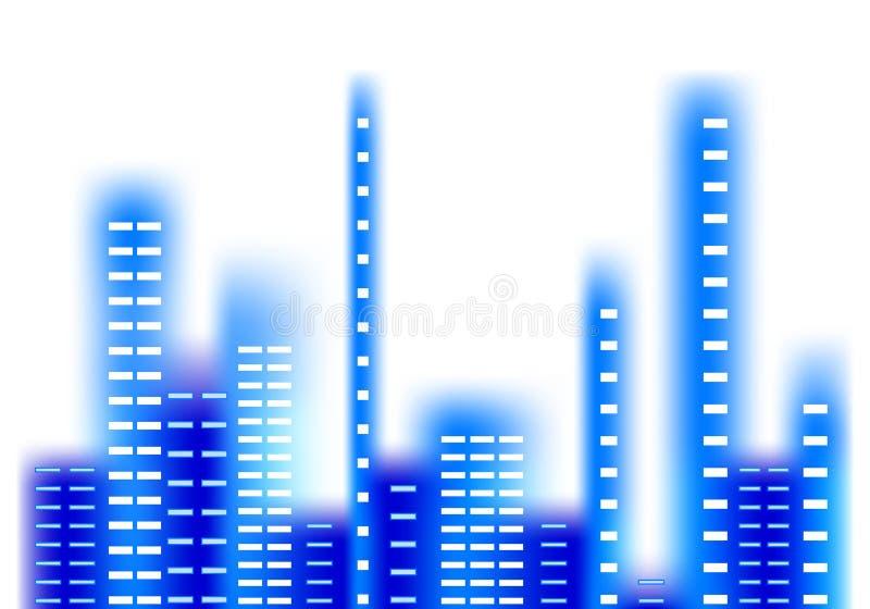 Ciudad azul libre illustration