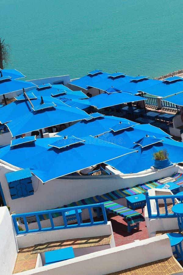 Ciudad azul Sidi-BU-dicha fotos de archivo
