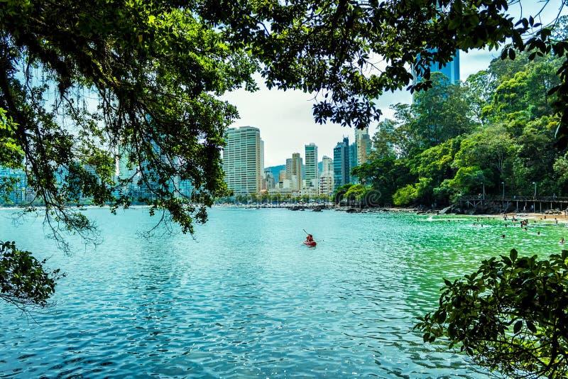 Ciudad Balneario Camboriu Santa Catarina Brazil del agua fotos de archivo libres de regalías