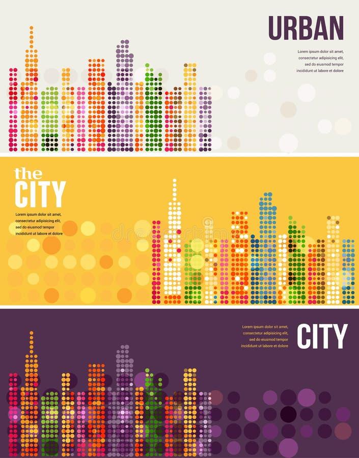 Ciudad - banderas del vector libre illustration