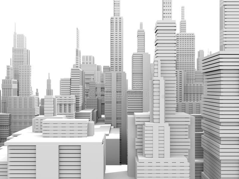 Ciudad blanca ilustración del vector