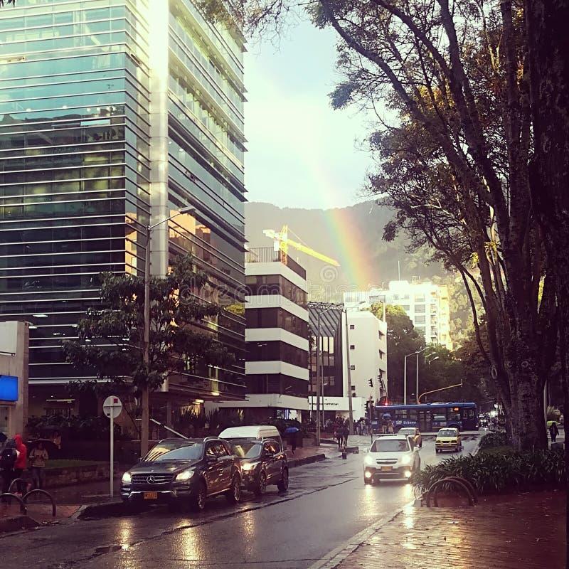 Ciudad Bogotá imagen de archivo