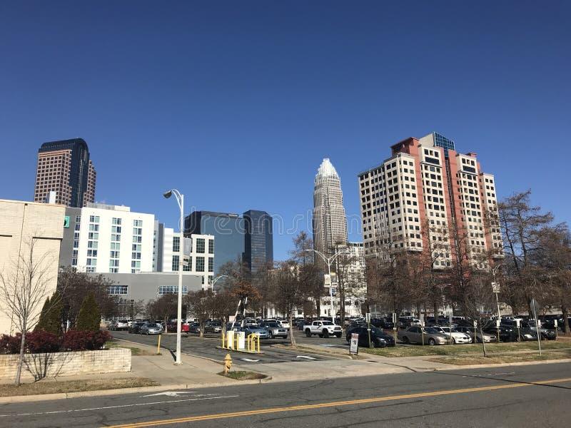 Ciudad Carolina del Norte de la visión fotos de archivo