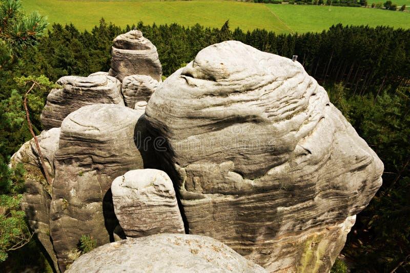 Ciudad checa de la roca imagenes de archivo