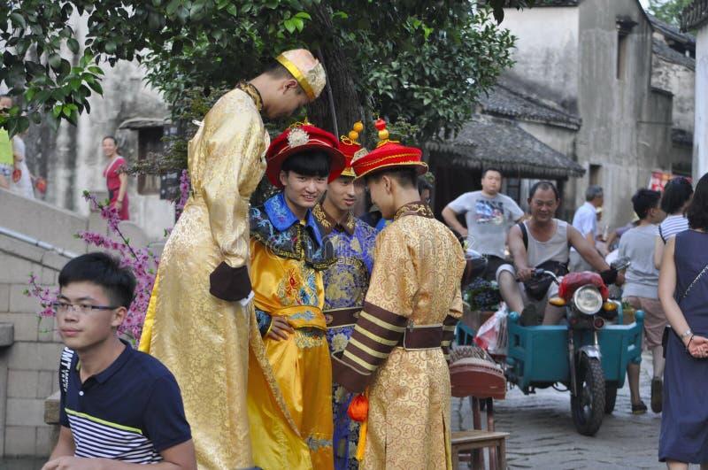 Ciudad China Cosplay de Tongli imagenes de archivo
