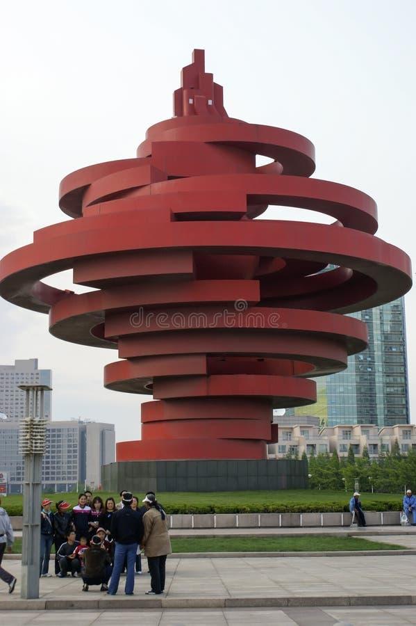 Ciudad China de Qingdao imagenes de archivo
