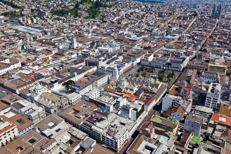 Ciudad colonial de Quito imagenes de archivo